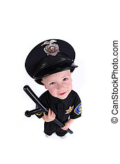 Adorable Image of a Child Police Officer