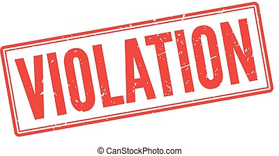 Untitled-120-K - Violation red rubber stamp on white Print,...