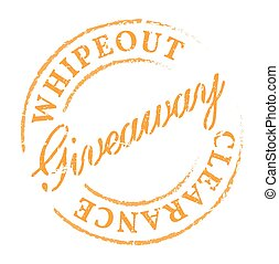 Giveaway eco stamp. Disstressed natural rubber stamp on...