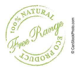 Free Range natural product eco stamp