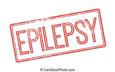 Epilepsy red rubber stamp on white Print, impress, overprint...