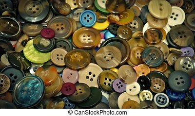 Pile Of Buttons Rotating - Buttons in many different sizes...