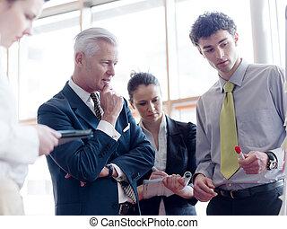 business leader making presentation and brainstorming -...