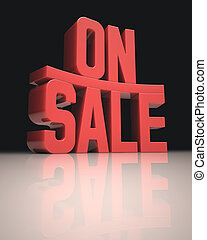 On Sale - 3D image concept On Sale words in red on white...