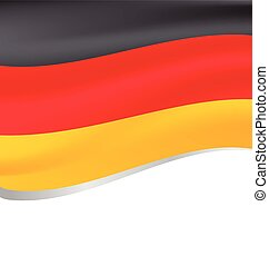 Vector illustration of a flying flag of Germany -...