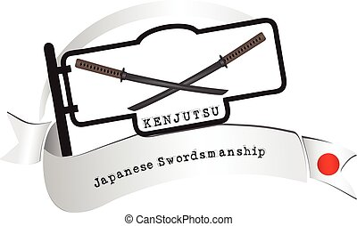 Banner traditional school Kenjutsu. Kenjutsu - traditional...