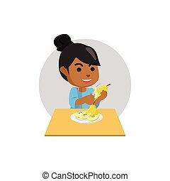 African girl pear skin