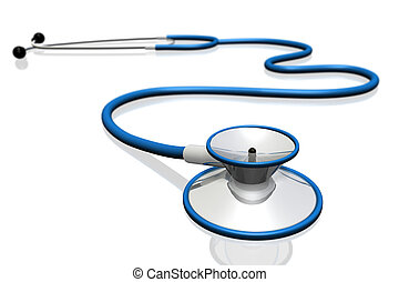 Stethoscope - A stethoscope isolated on a white background