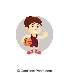 Boy holding basket ball