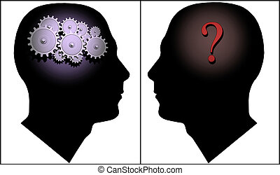 Questions and Answers - Image of two silhouettes...