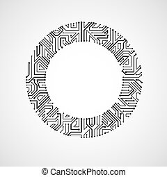 Vector abstract computer circuit board illustration,...