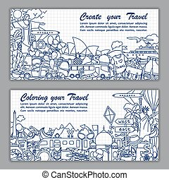 Create your travel Flier - Vector illustration of fliers...