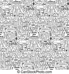 Create your Weekend Seamless Pattern - Vector illustration...