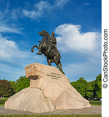 Bronze Horseman, equestrian statue of Peter the Great, 18th century
