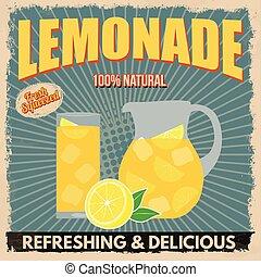 Lemonade retro poster - Lemonade poster in vintage style on...