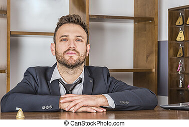 Portrait of a Receptionist - Portrait of a receptionist at...