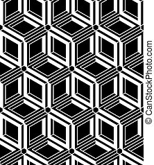 Contrast black and white symmetric seamless pattern with...