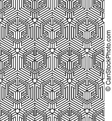 Seamless optical ornamental pattern with three-dimensional...