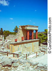 Knossos palace at Crete, Greece Knossos Palace, travel...