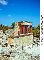 Knossos, Palácio, em, crete, Grécia, Knossos,...