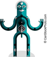 Modernistic style colorful vector illustration made from...