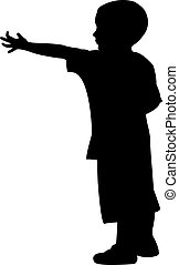beggar child silhouette
