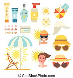 Skin sun protection cancer body prevention infographic...