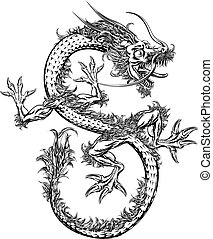 Chinese or Japanese Oriental Dragon
