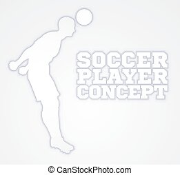 Silhouette Football Player Concept