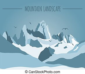 Mountain landscape graphic template Vector illustration