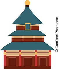 Vector Indian temple with arch cartoon building - Branding...