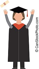 Graduation vector education people successful students knowledge school or university or college infographic concept