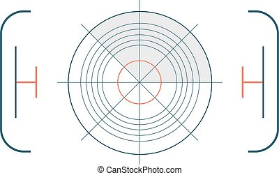 Crosshair target symbol success aim circle vector -...