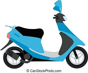 Scooter silhouette symbol and bike cartoon icon vector -...