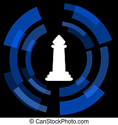 chess black background simple web icon