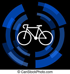bicycle black background simple web icon