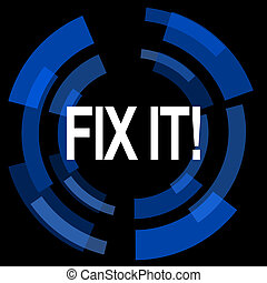 fix it black background simple web icon