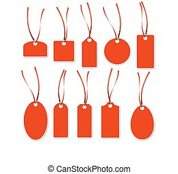 Pendant Collection - red and white - collection of different...