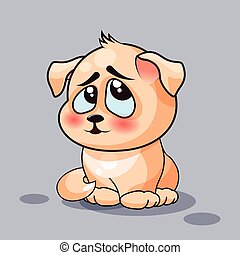 Dog is confused - Isolated Emoji character cartoon dog...