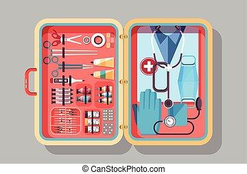 Medical suitcase illustration - Illustration of medical...
