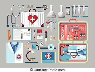 Set medician illustration - Illustration of medical...