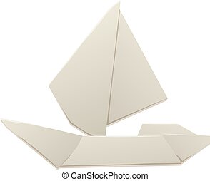 Origami paper ship sea toy transport - Paper ship origami...