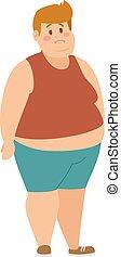 Cartoon character of fat boy