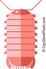 Centipede millipede cartoon posing flat insect. - Animal...