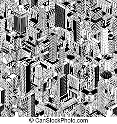 Generic City Seamless Pattern Isometric