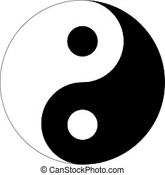 Yin Yang sign icon