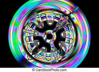 Abstract colorful light effects, polarized rainbow lights