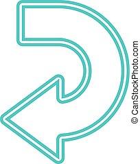 Vector arrow abstract logo template. Up, cursor icon,...