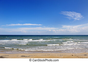 summer beach and sea in Apulia, Italy - holiday destination...