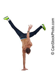 breakdancer - stylish and cool breakdance style dancer...